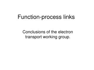 Function-process links