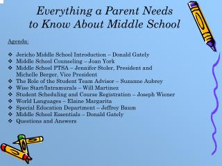 Everything a Parent Needs  to Know About Middle School