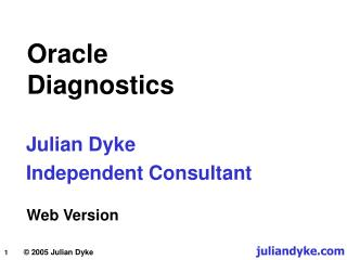 Oracle Diagnostics
