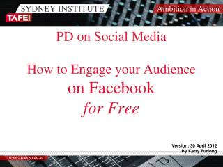 PD on Social Media How to Engage your Audience on Facebook for Free