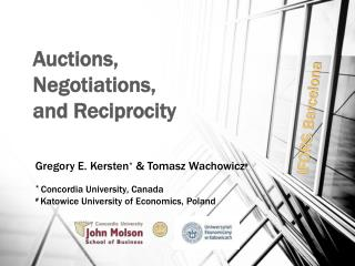 Auctions,  Negotiations, and Reciprocity