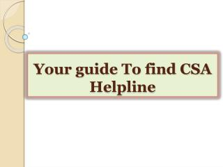 Your guide To find CSA Helpline