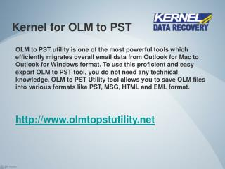 Prefect Utility to Convert OLM to PST File