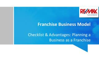Checklist and advantages of Franchise Business Model