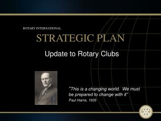 Update to Rotary Clubs