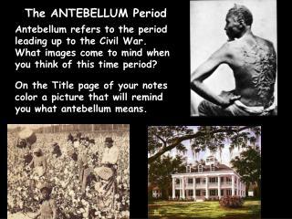 antebellum period 2