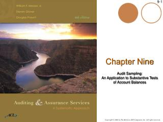 Chapter Nine Audit Sampling: An Application to Substantive Tests  of Account Balances