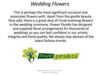 Wedding Flowers Delivery in Toronto