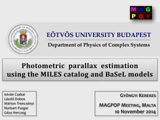 Photometric  parallax  estimation  using  the MILES catalog and BaSeL models
