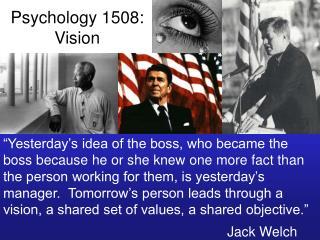 Psychology 1508: Vision