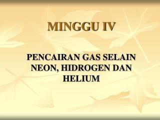 MINGGU IV