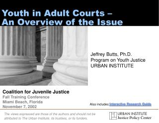 Youth in Adult Courts –  An Overview of the Issue