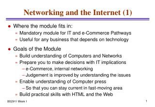 Networking and the Internet (1)
