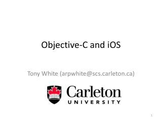 Objective-C and  iOS
