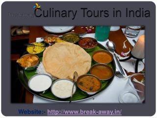 Experience Awesome Culinary Tour in India