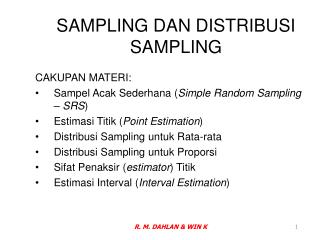 SAMPLING DAN DISTRIBUSI SAMPLING