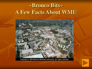 ~Bronco Bits~  A Few Facts About WMU