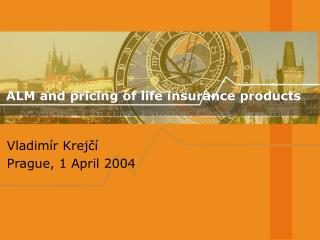 ALM and pricing of life insurance products