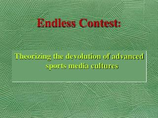 Endless Contest :