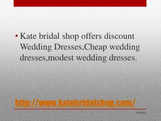 Hot sale cheap wedding dress in katebridalshop.com