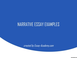 Elements of a Narrative Essay