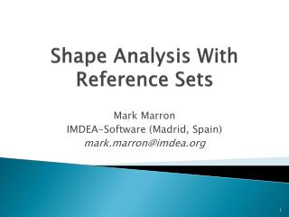 Shape Analysis With Reference Sets