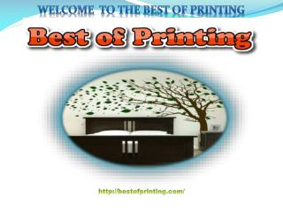 Welcome To The Best Of Printing In USA