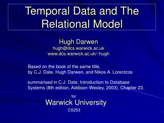 Temporal Data and The Relational Model
