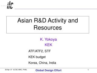 Asian R&D Activity and Resources