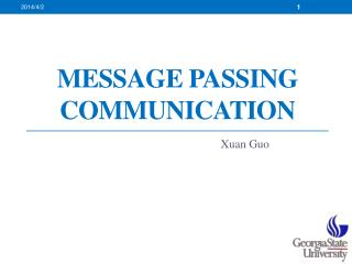 Message Passing Communication