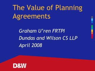 The Value of Planning Agreements