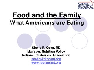 Food and the Family What Americans are Eating