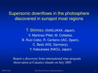 Supersonic downflows in the photosphere discovered in sunspot moat regions