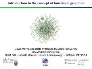 Introduction to the concept of functional genomics