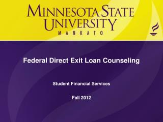 Federal Direct Exit Loan Counseling