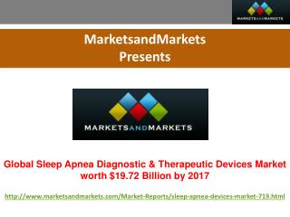 Global Sleep Apnea Diagnostic & Therapeutic Devices Market worth $19.72 Billion by 2017