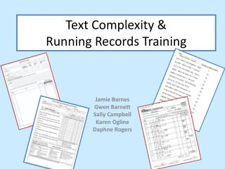 Text Complexity & Running Records Training