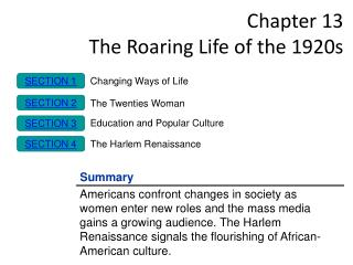 Chapter 13 The Roaring Life of the 1920s