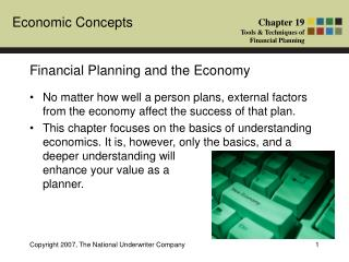 Financial Planning and the Economy