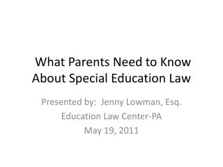 What Parents Need to Know About Special Education Law