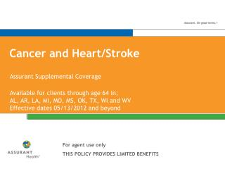 Cancer and Heart/Stroke
