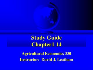 Study Guide Chapter1 14
