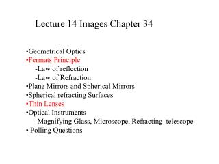 Lecture 14 Images Chapter 34