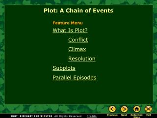 What Is Plot  Conflict  Climax   Resolution Subplots  Parallel Episodes