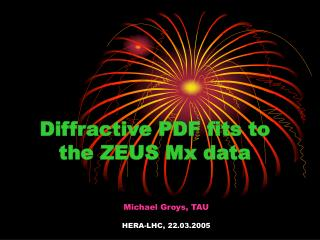 Diffractive PDF fits to the ZEUS Mx data