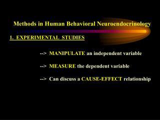 Methods in Human Behavioral Neuroendocrinology