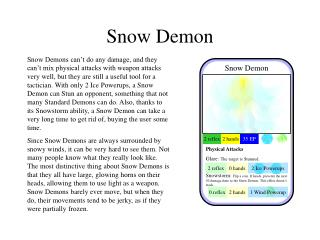 Snow Demon