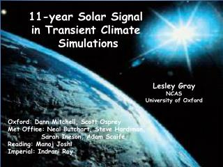11-year Solar Signal in Transient Climate  Simulations