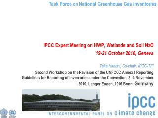 IPCC Expert Meeting on HWP, Wetlands and Soil N 2 O