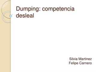 Dumping: competencia desleal